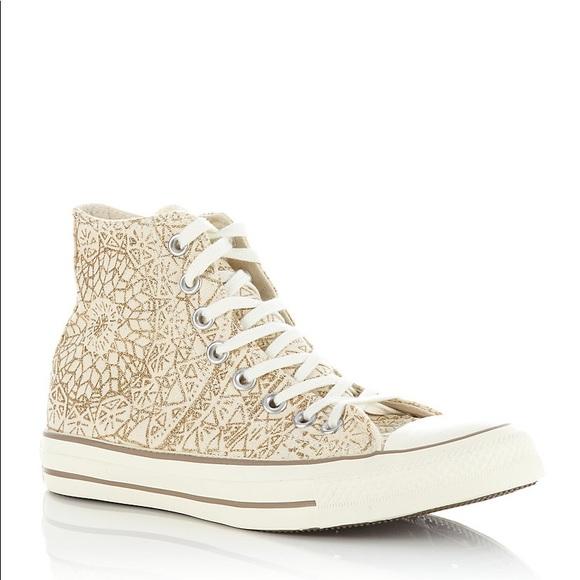 909a99da633e Converse Shoes - Converse All Star Snowflake Sparkle High Tops